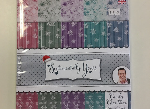 Sentimentally Yours -Snow flakes Paper Pad