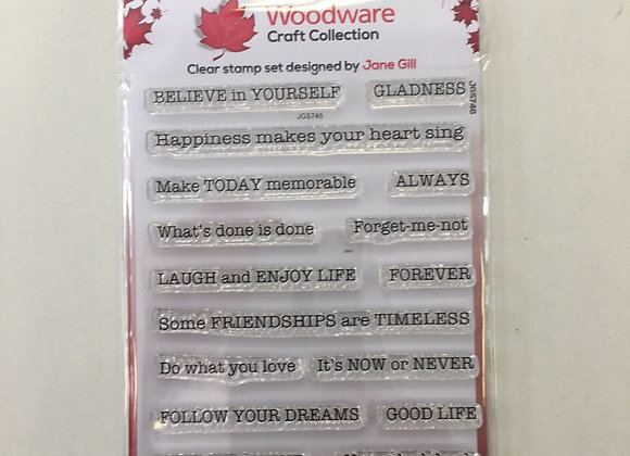 WoodWare Stamp - Word Fragments