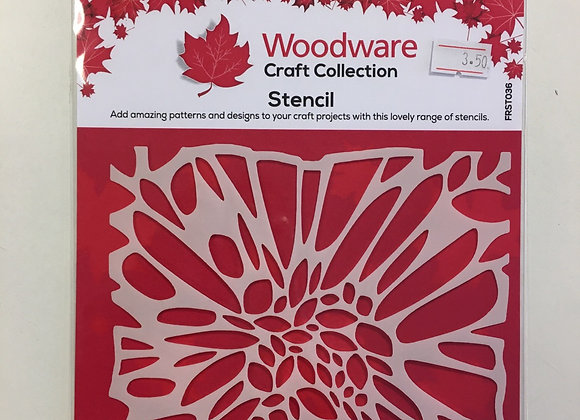 Woodware Craft Stencil - Flower Centre