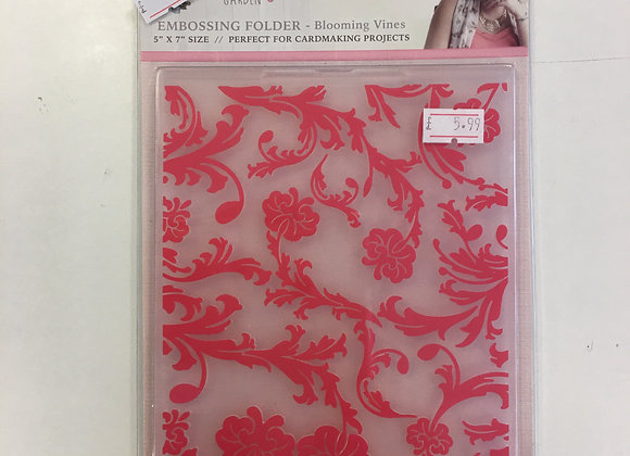 Crafters Companion Embossing Folder - Blooming Vines