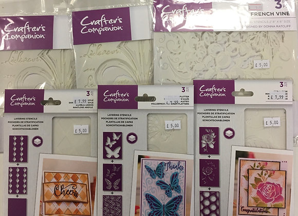 Crafters Companion Stencils Bundle