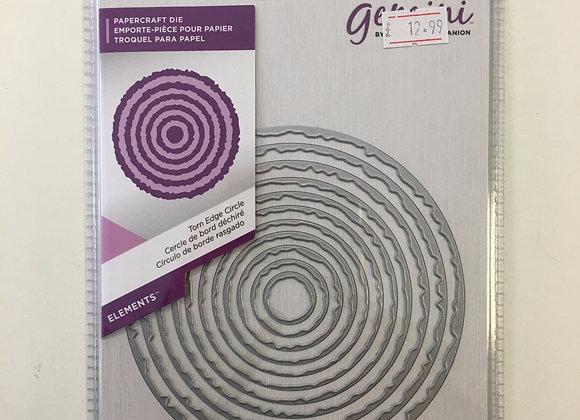 Gemini cutting dies - Torn Edge circles