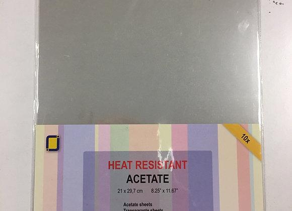 ACETATE SHEETS HEAT RESISTANT (10sheets)