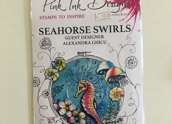 Pink Ink Designs Seahorse Swirls Stamp Set