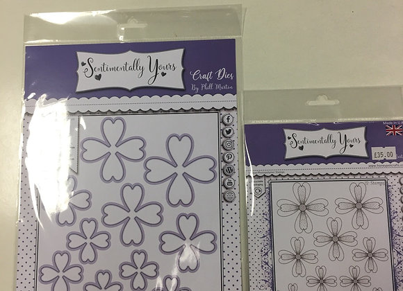 SENTIMENTALLY YOURS - SWEETHEART FLOWER STAMP & DIES