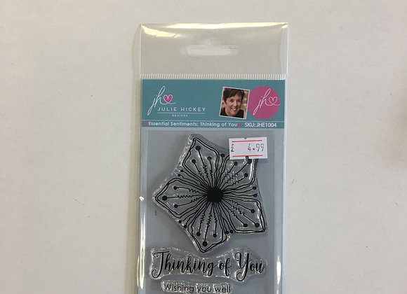 Julie Hickey Designs - Essential Sentiments Thinking of You Stamp