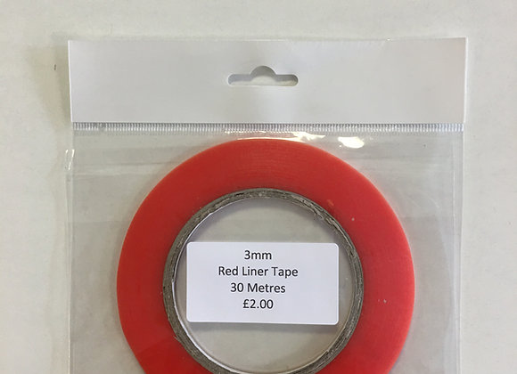 Red Liner Tape 3mm x 30m