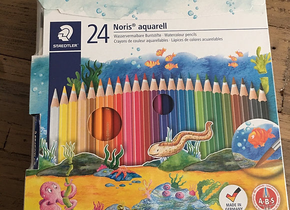 STAEDTLER WATERCOLOUR PENCILS - 24 PACK