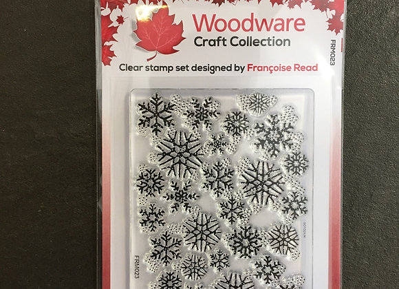 WoodWare Stamp - SNOWFLAKE FLURRY