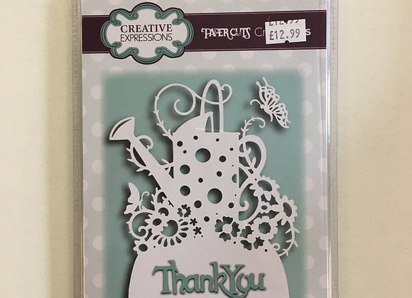 Creative Expressions paper cuts collection watering can