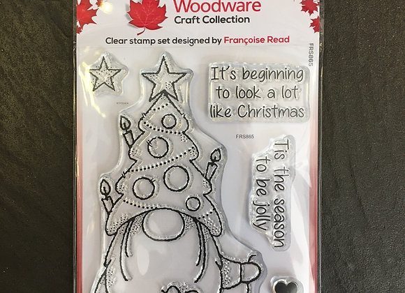 WoodWare Stamp - CHRISTMAS TREE GNOME