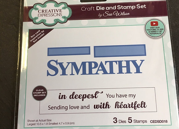 CREATIVE EXPRESSIONS - BOLD WORDS - SYMPATHY