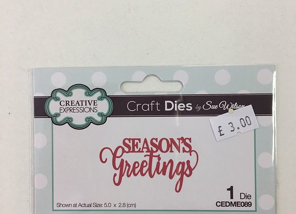 CREATIVE EXPRESSION DIE - SEASON GREETINGS