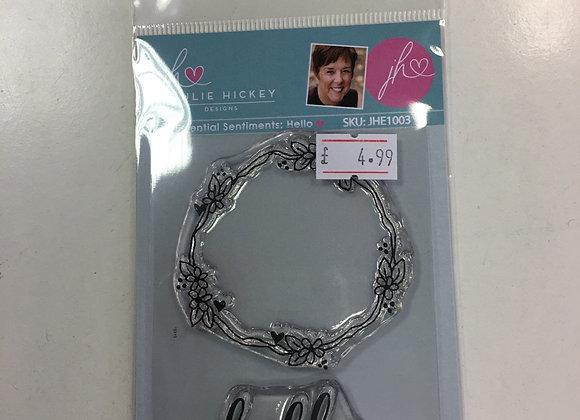 Julie Hickey Designs - HELLO STAMP  SET