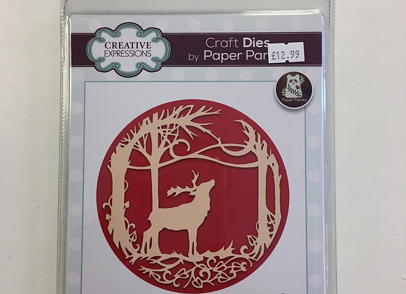 Creative Expressions Paper Panda Die- Midnight in the Forest
