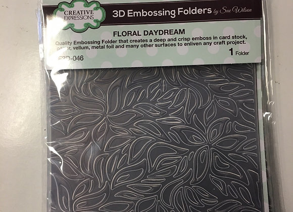 Creative  Expressions 3D EMBOSSING FOLDER - FLORAL DAYDREAM