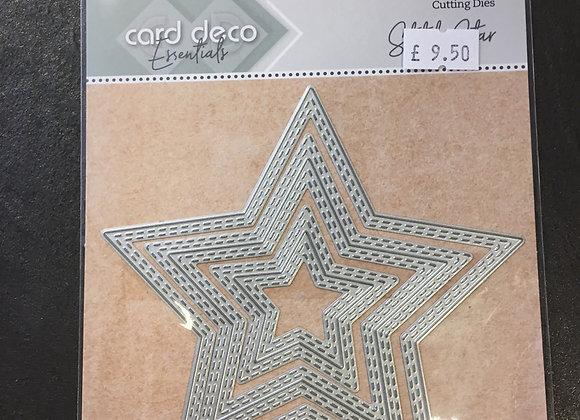 CARD DECO STAR DOUBLE STICH DIES - (3 DIES)