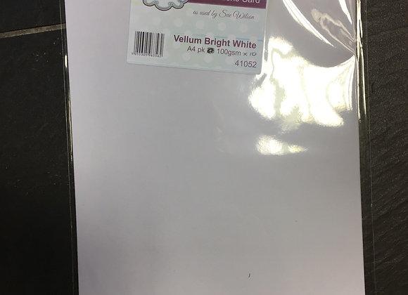 BRIGHT WHITE VELLUM - 10 SHEETS -A4