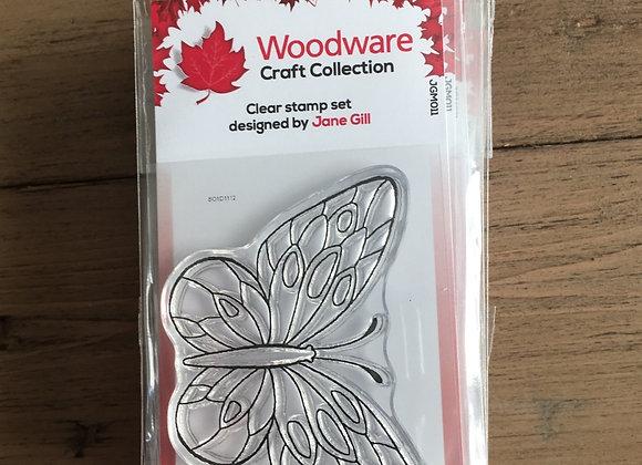 WoodWare Stamp - MINI WINGS -MARSH FRITILLARY-jgm011