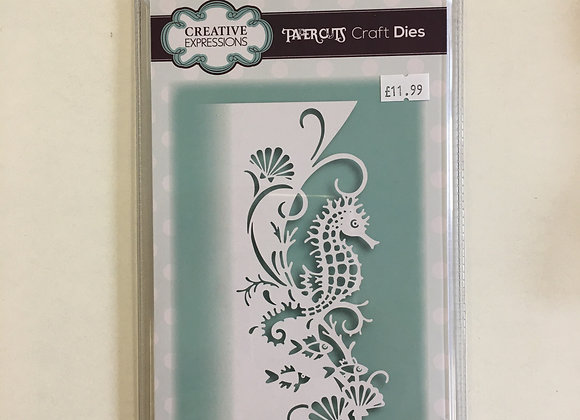 Creative Expressions paper cuts collection - sea horse edger