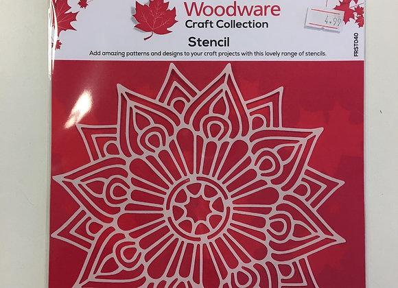 Woodware Craft Stencil - Raindrop Mandala