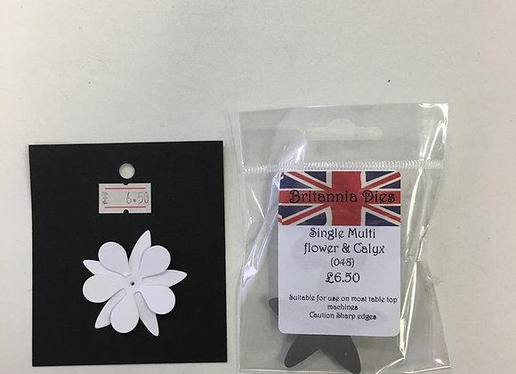 """Britannia dies - Multi flower & Calyx - 1.5"""""""