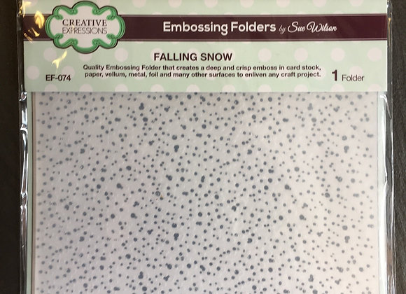 Creative  Expressions -EMBOSSING FOLDER - FALLING SNOW