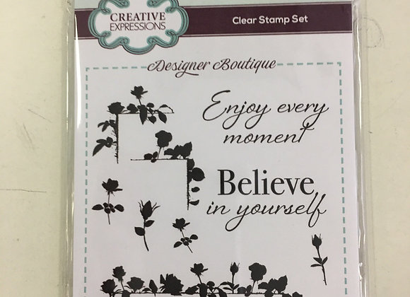 CREATIVE EXPRESSIONS A6 STAMP SET -  ROSE TRAIL