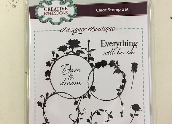 CREATIVE EXPRESSIONS A6 STAMP SET - ROSE LOOPS