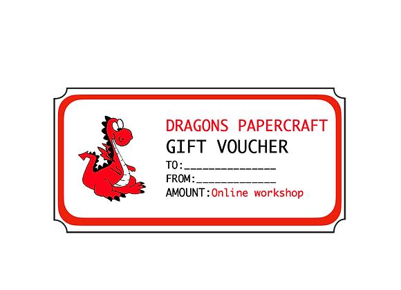 Gift Voucher Online Workshop