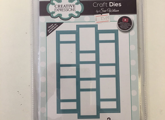 Creative Expressions Tiled Background cutting die