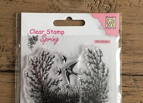 NELLIES CHOICE STAMP - SPRING IS IN THE AIR