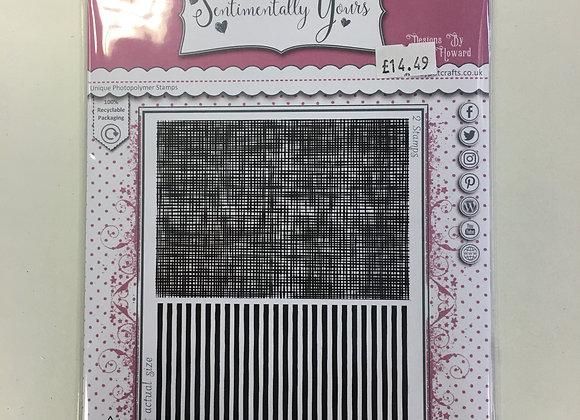 Sentimentally Yours - Linen & Doodle Stamp Set