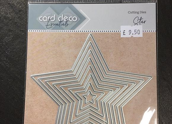 CARD DECO STAR NESTING DIES - (8 DIES)