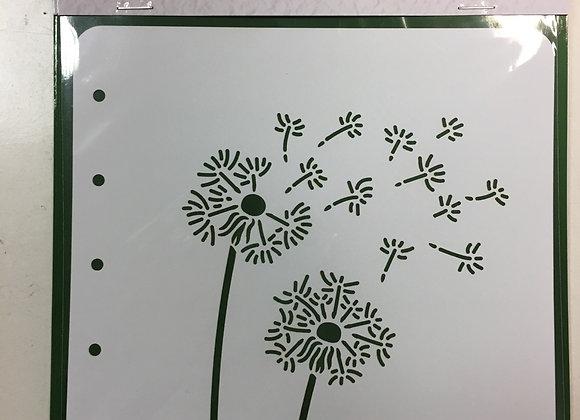 Nellie's Stencil - DANDELION - A6
