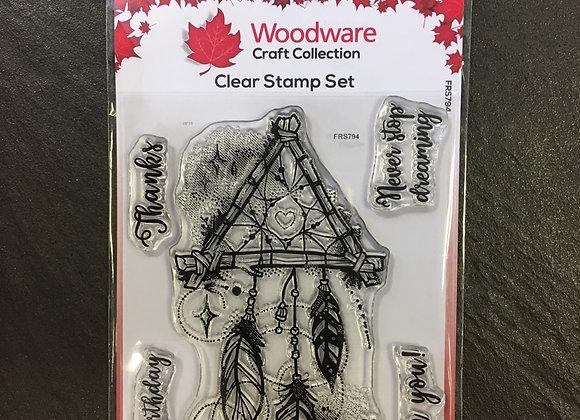 WoodWare Stamp - DREAM CATCHER
