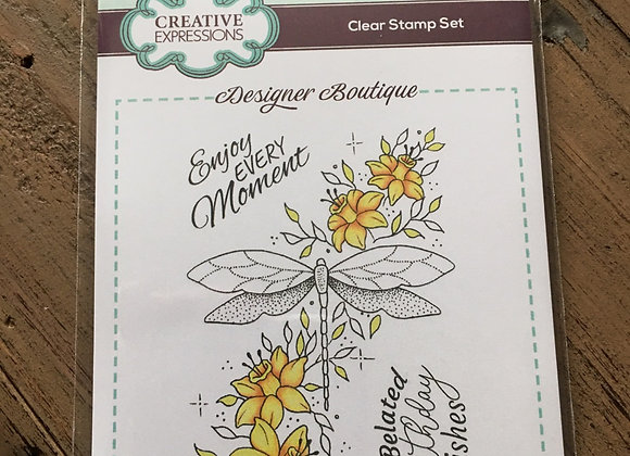 CREATIVE EXPRESSIONS A6 CLEAR STAMP SET- DRAGONFLY DELIGHT