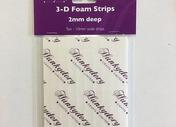 Hunkydory 3D Foam Strips 10mm wide strips