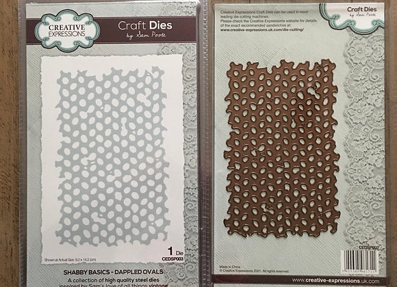 Creative  Expressions cutting die - DAPPLED OVALS