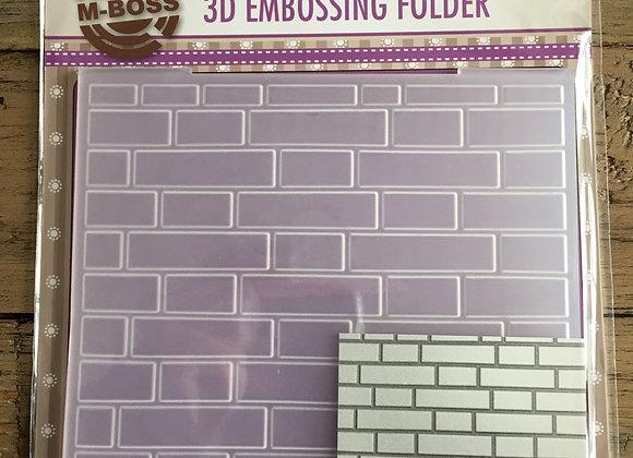 NELLIE S CHOICE - 3D EMBOSSING FOLDER- BRCKWALL
