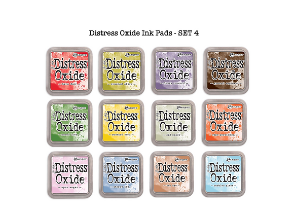 Distress Oxide Ink Pad Selection - SET 4 - £5.99 Each