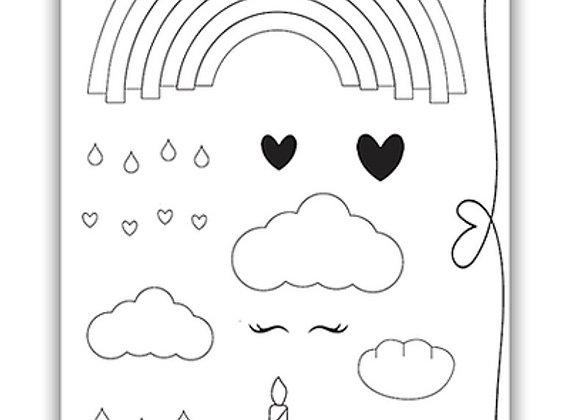 PURE & SIMPLE LOVE A RAINBOW STAMP SET