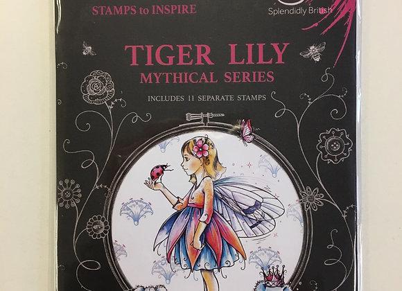 Pink Ink Designs Stamp Set- TIGER LILLY