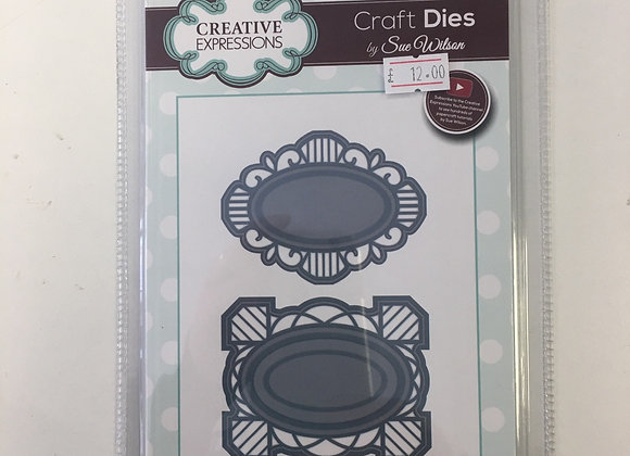 Creative Expressions Tag duo cutting die