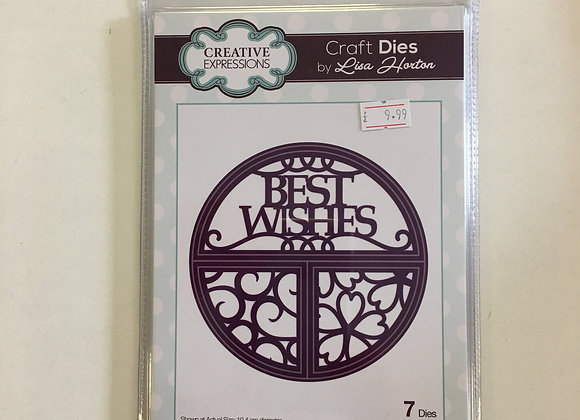 Creative Expressions sliced circles best wishes cutting dies
