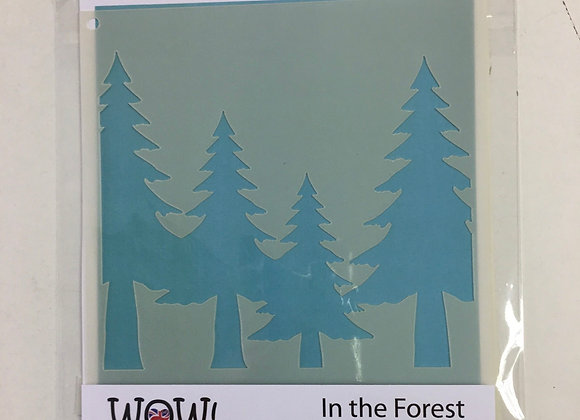 WOW STENCIL - IN THE FOREST
