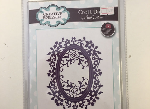 Creative  Expressions Rose Oval cutting die