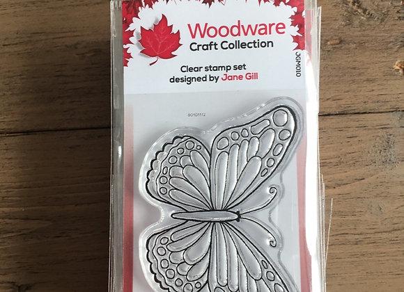 WoodWare Stamp - MINI WINGS - TORTOISESHELL-jgm010