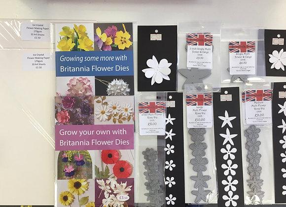 Britannia dies - Complete flower making kit