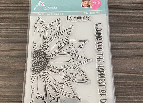 Julie Hickey Designs -  BE HAPPY STAMP SET
